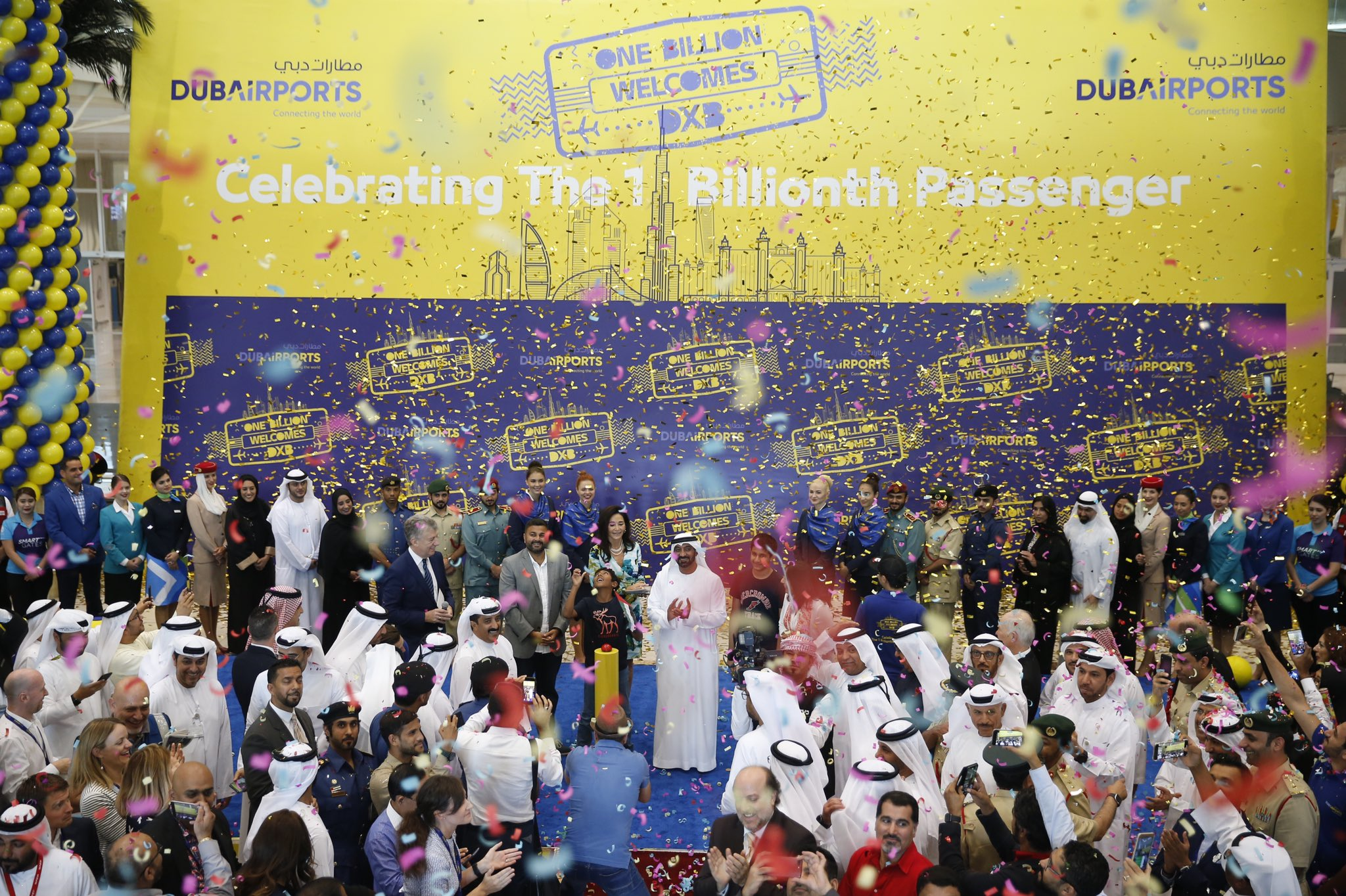 Miljardste passagier als Dubai