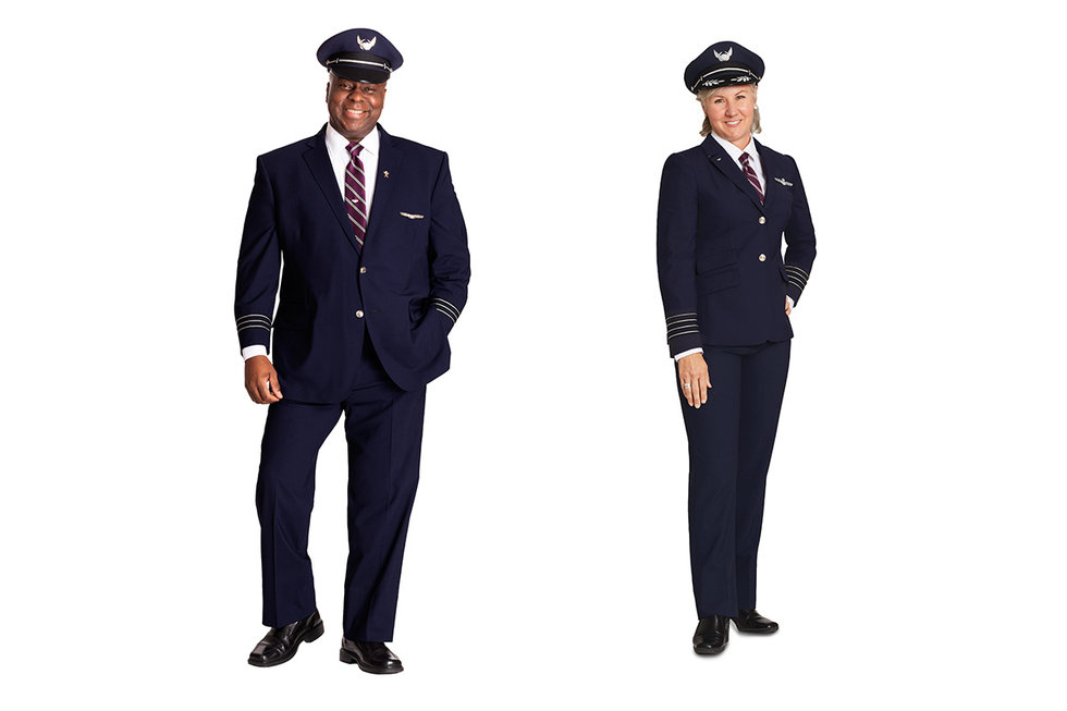 Nieuw pilotenuniform United