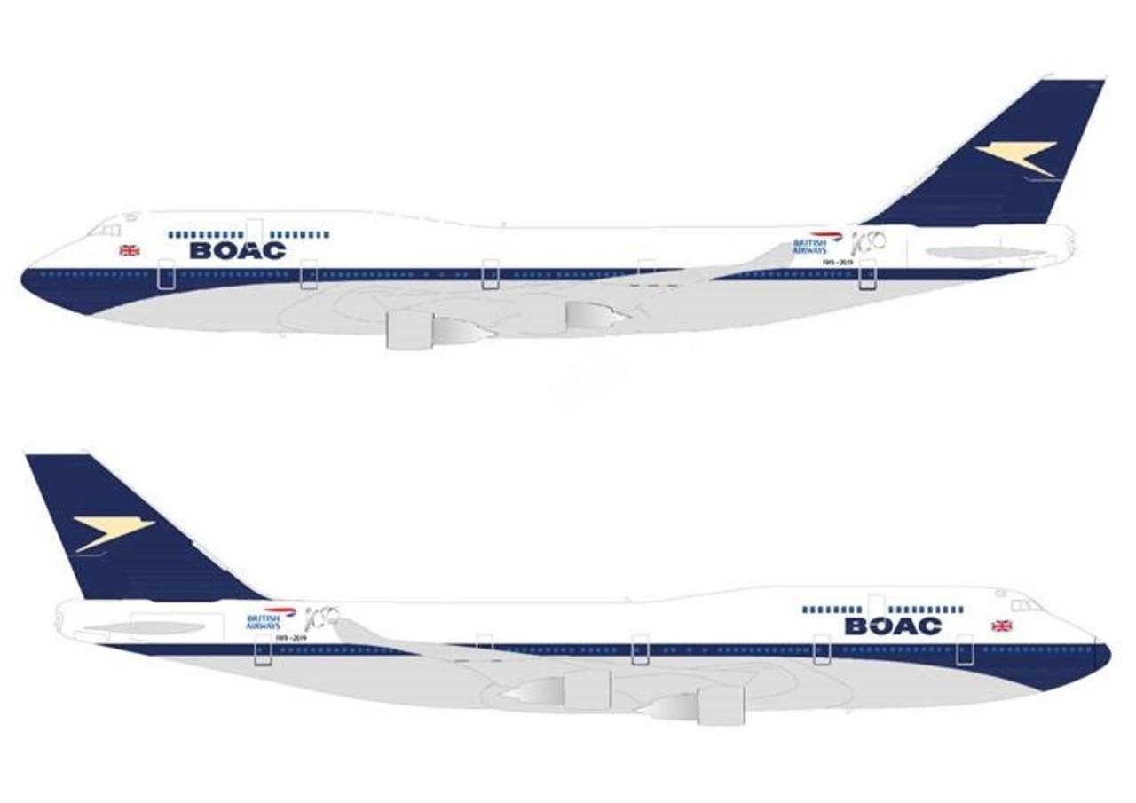 Boeing 747 retro BA