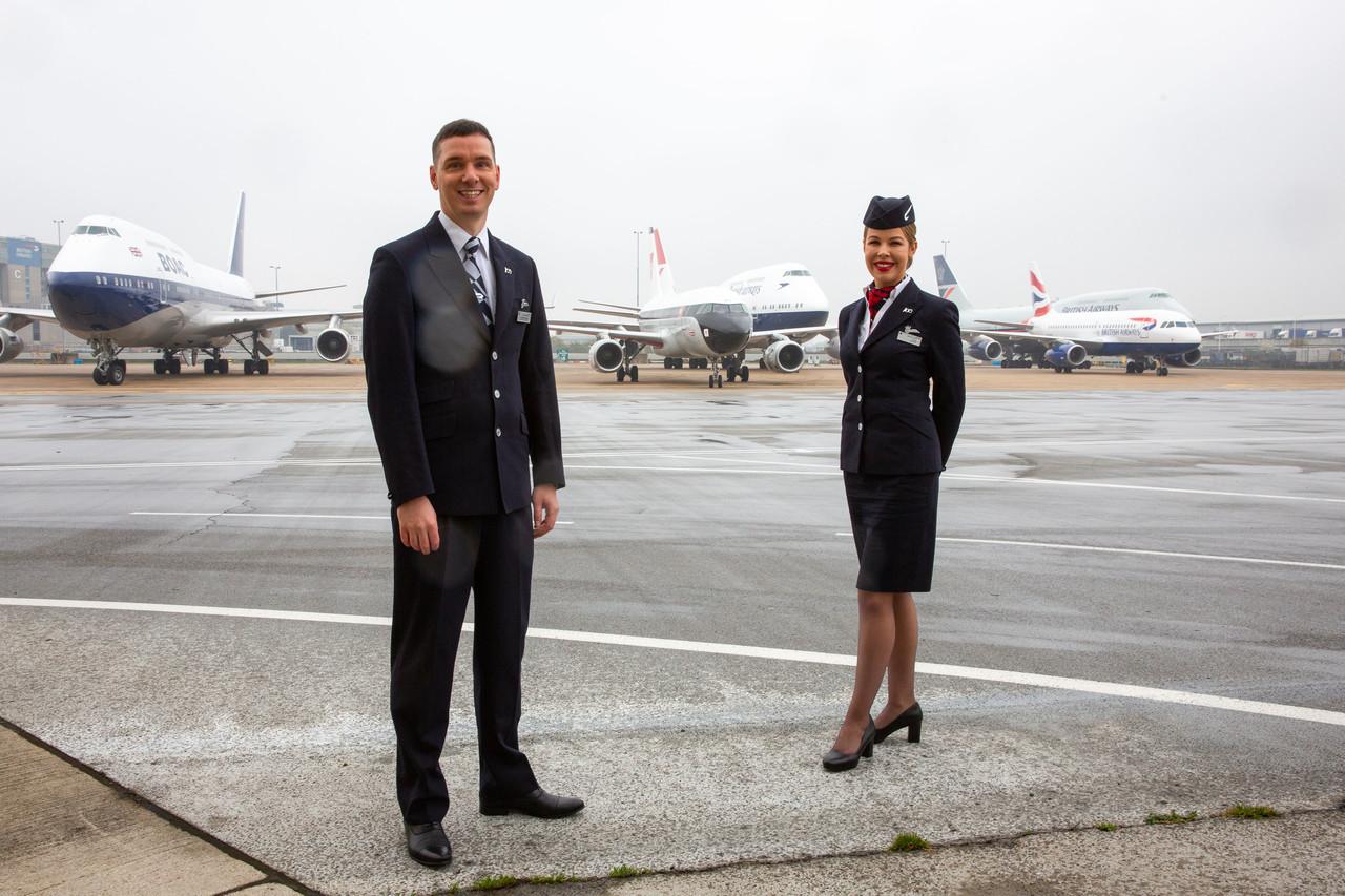 British Airways retrojets