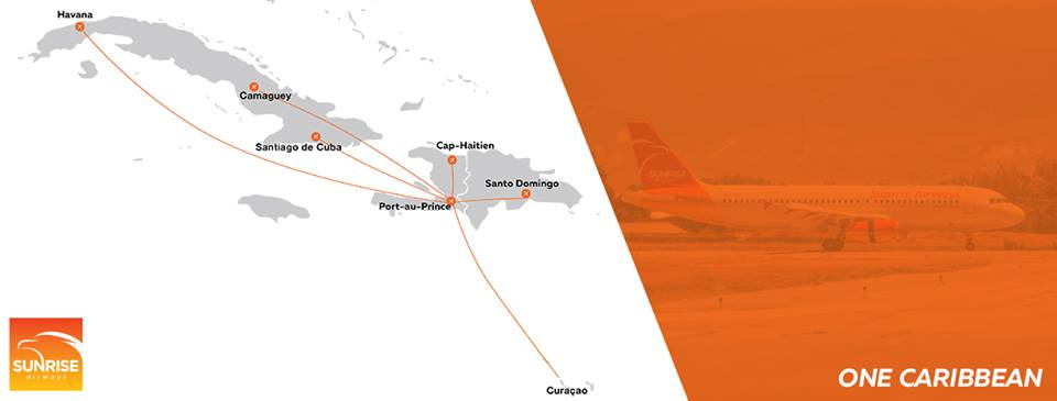 Sunrise Airways netwerk