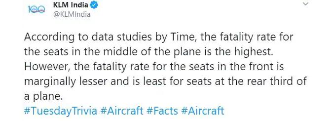 Onhandige tweet KLM