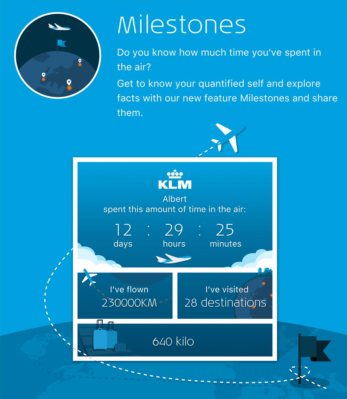 KLM Milestones App