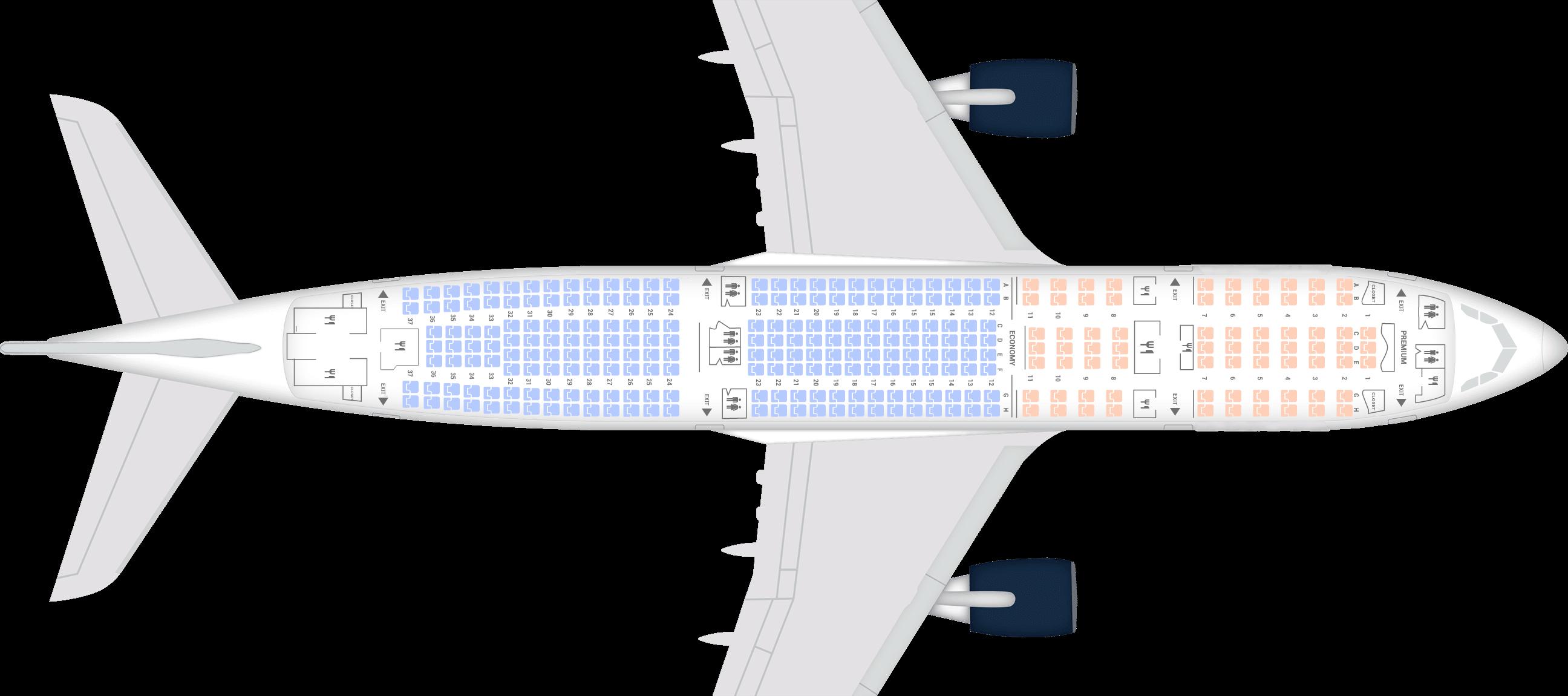 Hans Airways Seat Map