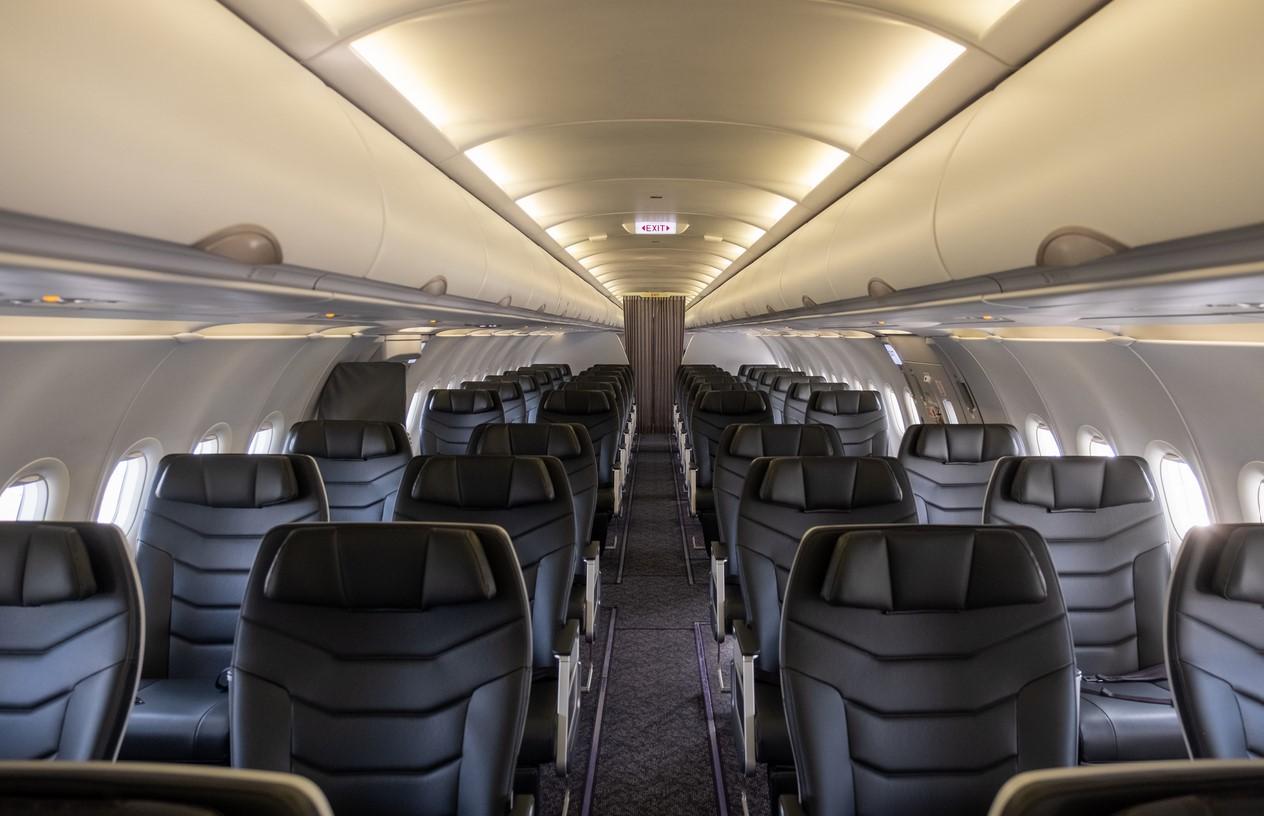 Titan Airways A321 Cabine