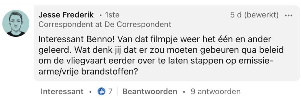 Vraag Jesse Frederik
