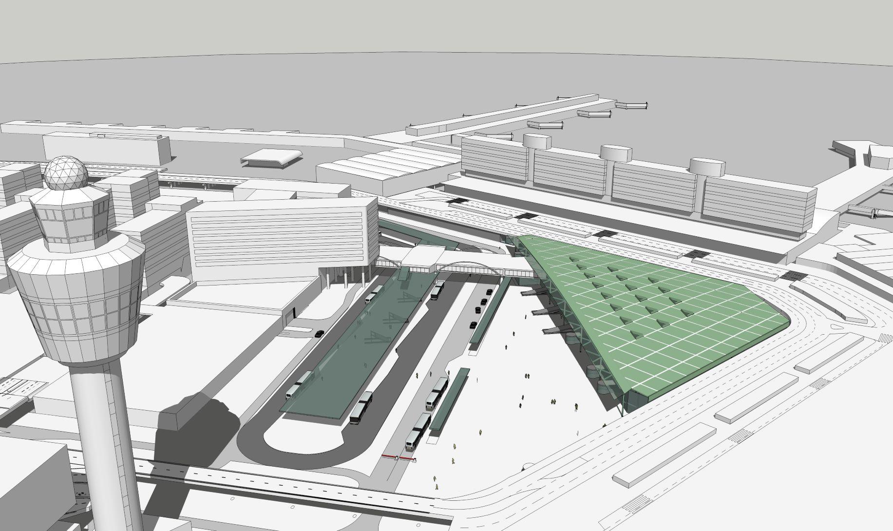 Verbouwing station Schiphol