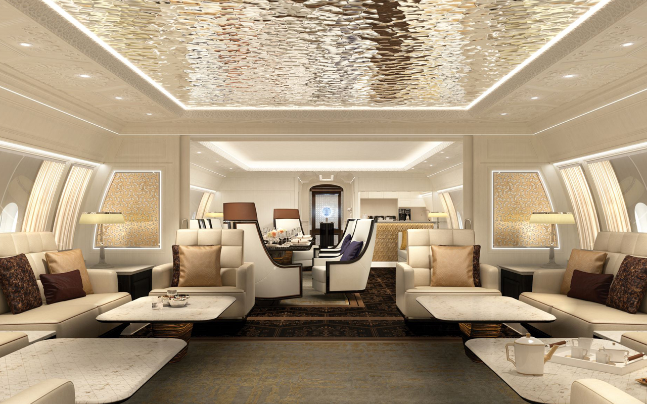 BBJ 777X cabine